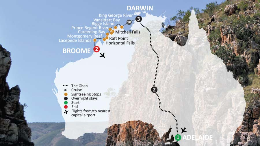 The Ghan & Coral Adventurer - Kimberley Travel & Cruise